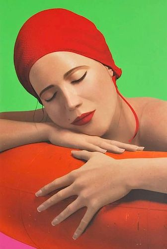 Carole Feuerman 'Serena With Cap' Lithograph, Signed Edition