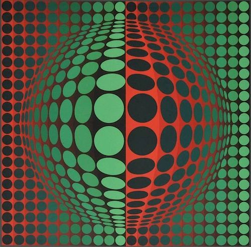 Framed Victor Vasarely Print & Lithograph