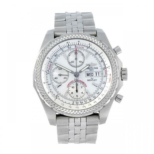 BREITLING - a gentleman's Breitling for Bentley GT chronograph bracelet watch. Circa 2007. Stainless
