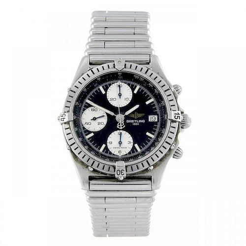 BREITLING - a gentleman's Windrider Chronomat chronograph bracelet watch. Stainless steel case with