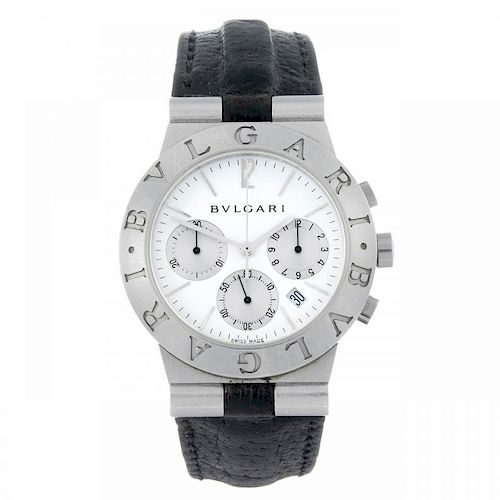 BULGARI - a gentleman's Diagono chronograph wrist watch. Stainless steel case. Reference CH 35 S, se