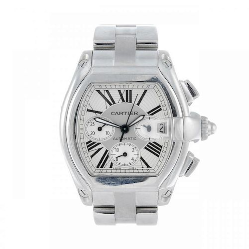 CARTIER - a Roadster XL chronograph bracelet watch. Stainless steel case. Reference 2618, serial 559