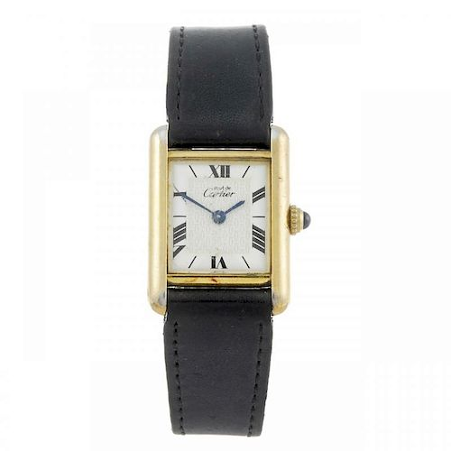 CARTIER - a Must De Cartier wrist watch. Gold plated silver case. Reference 1613, serial CC417879. S