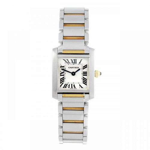 CARTIER - a Tank Francaise bracelet watch. Stainless steel case. Reference 2384, serial 761678CD. Si