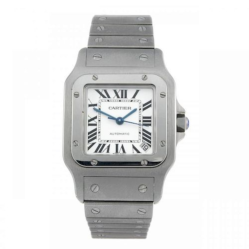 CARTIER - a Santos bracelet watch. Stainless steel case. Reference 2823, serial 328480CE. Signed aut