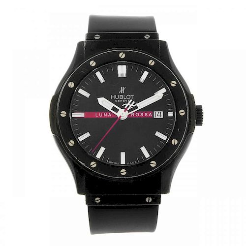 HUBLOT - a limited edition gentleman's Lunar Rossa wrist watch. Number 755 of 2000. PVD-treated stai