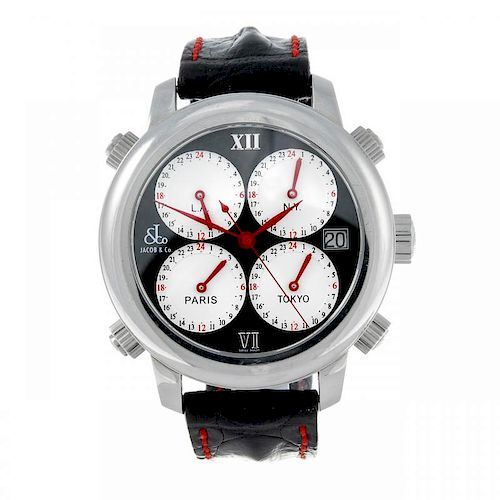 JACOB & CO. - a limited edition gentleman's H24 Five Time Zones wrist watch. Number 195 of 1800. Sta