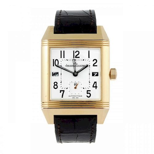 JAEGER-LECOULTRE - a gentleman's Reverso Squadra Hometime wrist watch. 18ct rose gold reversible cas