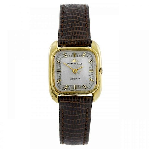 JAEGER-LECOULTRE - a lady's Voguematic wrist watch. Yellow metal case, stamped 18K 0,750 with poinco