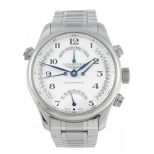 CURRENT MODEL: LONGINES - a gentleman's Master Collection bracelet watch. Stainless steel case with