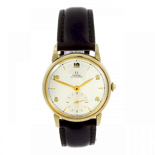 OMEGA - a gentleman's wrist watch. Gold plated case. Reference 2402 3, serial T826739. Signed automa