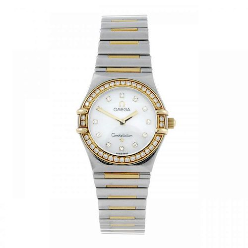 OMEGA - a lady's Constellation My Choice bracelet watch. Stainless steel case with yellow metal fact