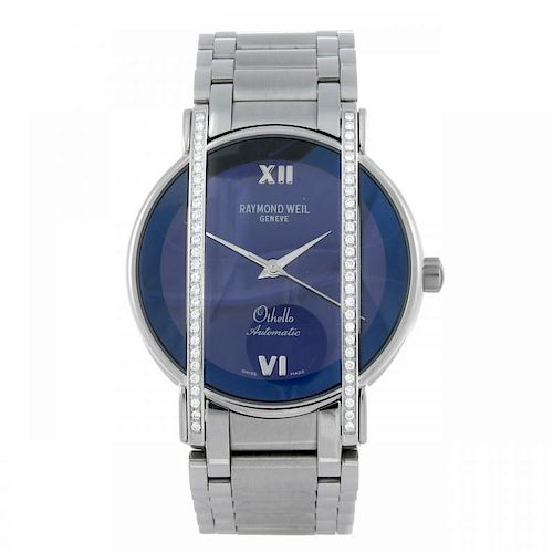 RAYMOND WEIL - an Othello bracelet watch. Factory diamond set stainless steel case. Reference 2850,