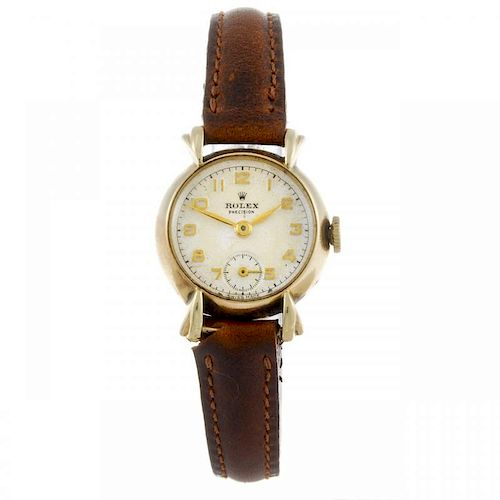 ROLEX - a lady's Precision wrist watch. 9ct yellow gold case, hallmarked Chester 1952. Numbered 1711