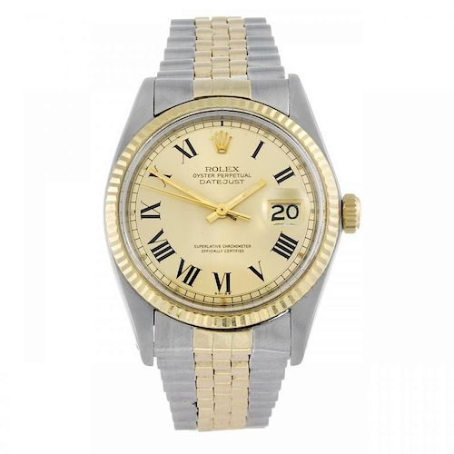 ROLEX - a gentleman's Oyster Perpetual Datejust bracelet watch. Circa 1972. Stainless steel case wit