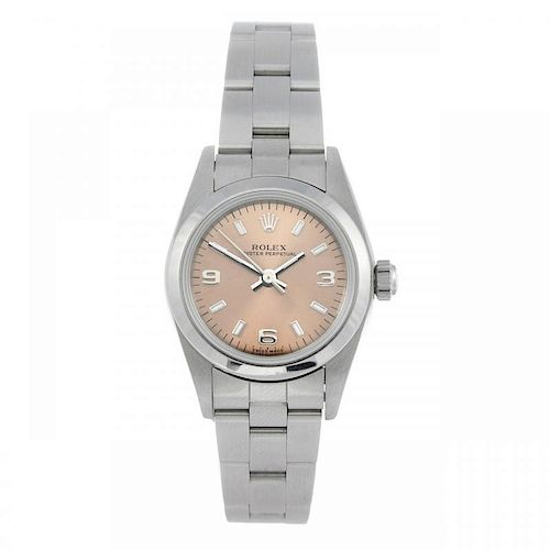 ROLEX - a lady's Oyster Perpetual bracelet watch. Circa 1999. Stainless steel case. Reference 76080,