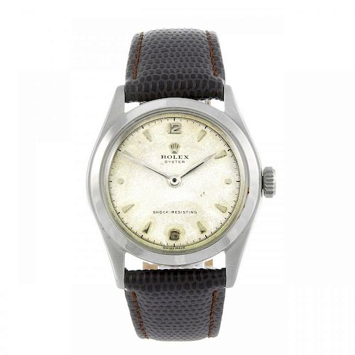 ROLEX - a gentleman's Oyster wrist watch. Circa 1950. Stainless steel case. Reference 6082, serial 7