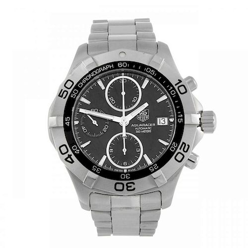TAG HEUER - a gentleman's Aquaracer chronograph bracelet watch. Stainless steel case with calibrated