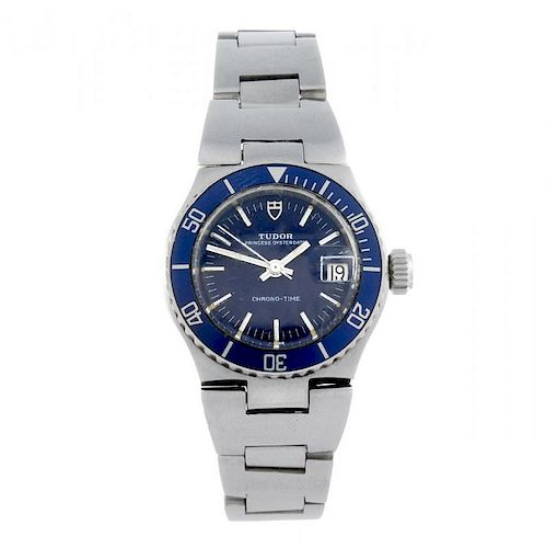 TUDOR - a lady's Princess Oysterdate Chrono-time bracelet watch. Stainless steel case with calibrate