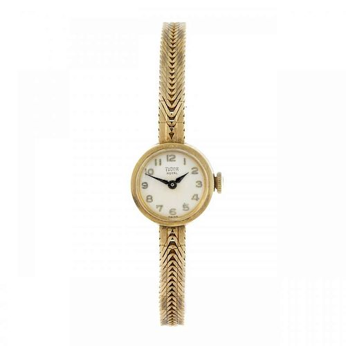 TUDOR - a lady's Royal bracelet watch. 9ct yellow gold case, hallmarked London 1963. Numbered 19840.