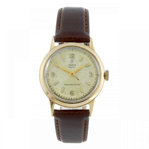 TUDOR - a gentleman's Royal wrist watch. 9ct yellow gold case, hallmarked Birmingham 1953. Reference