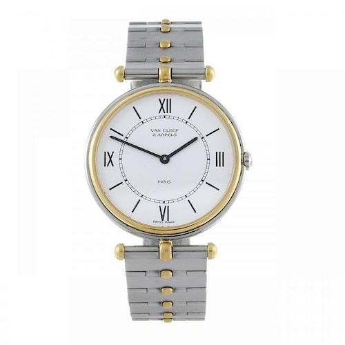 VAN CLEEF & ARPELS - a La Collection PA49 bracelet watch. Stainless steel case with yellow metal bez