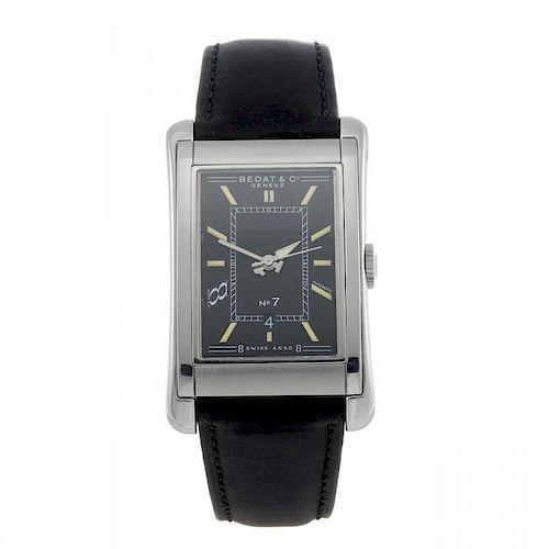 BEDAT & CO - a gentleman's wrist watch. Stainless steel case. Reference 718, serial 0931. Signed aut