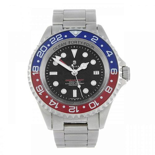 CURRENT MODEL: STEINHART - a gentleman's Ocean Forty-Four GMT bracelet watch. Stainless steel case w