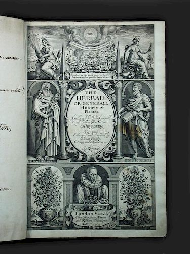GERARD (John) The Herball or Generall Historie of Plantes, Gathered by John Gerarde of London, Maste