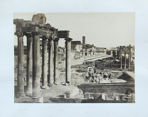 MACPHERSON (Robert, 1811-1872) Photographs of Rome, folio of sixteen mounted views with numbered ova