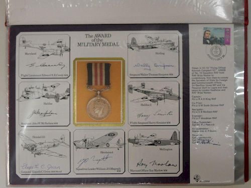 RAF. An album of large commemorative covers circa 1984-88, limited editions, twenty two, each signed