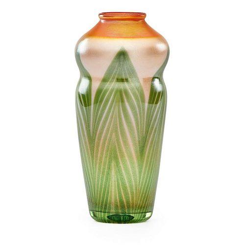 TIFFANY STUDIOS Favrile glass vase