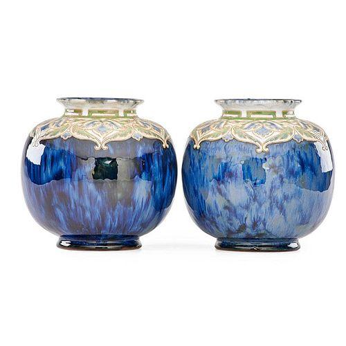 ROYAL DOULTON Pair of vases