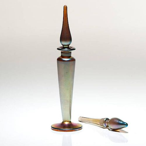 Steuben Perfume Bottle and Stoppers