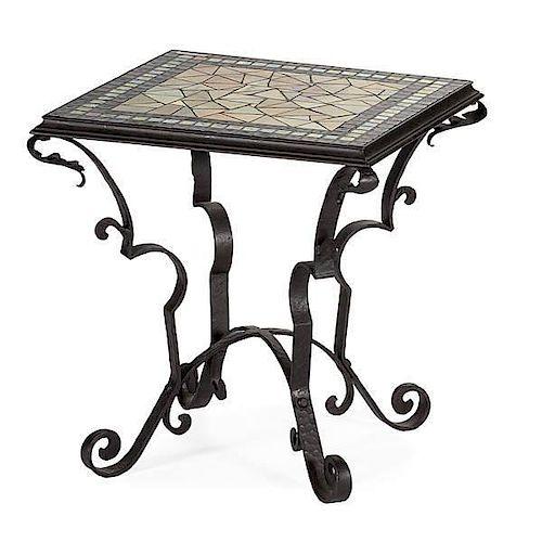 Steuben Mosaic Side Table