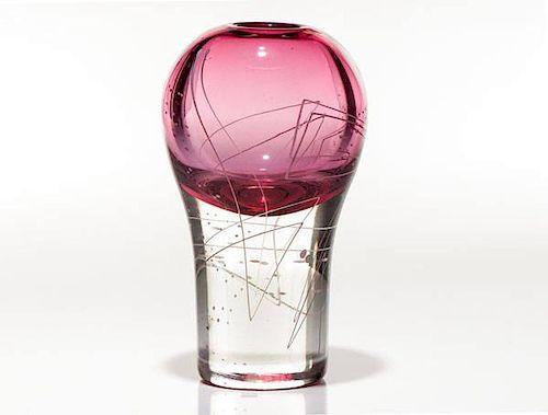 Line Series Art Glass Vase, by Mark Sudduth
