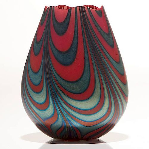 Charles Lotton Pulled Drape Vase