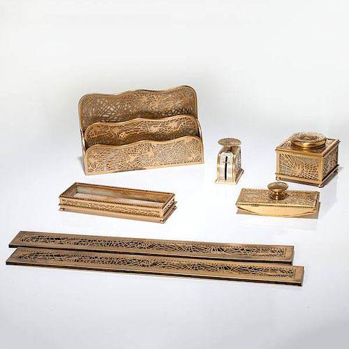 Tiffany Studios Pine Needle Desk Accessories