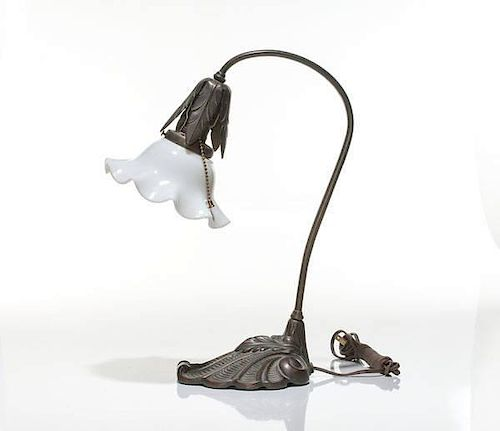 Bronze Art Nouveau Desk Lamp