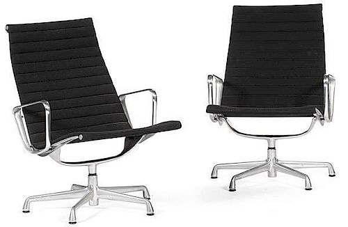 Charles and Ray Eames Aluminum Group Armchairs