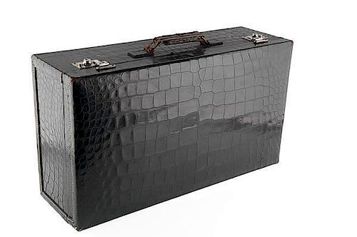 Mark Cross Alligator Leather Suitcase