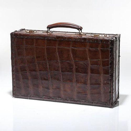 English Made Alligator Leather Attache Case