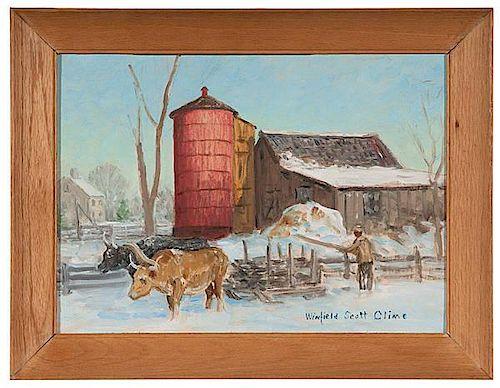 Farm Scene by Winfield Scott Clime