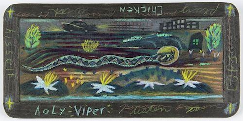 Tony Fitzpatrick (American, b. 1958) Holy Viper