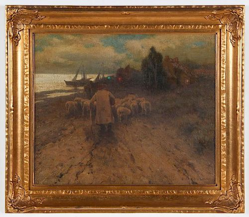 Eanger Irving Couse (American, 1866-1936) Sheep Herder