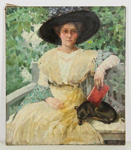 French School (19th c.) Portrait of a Lady