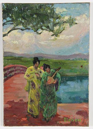 Oldham (American, 20th c.) Oil painting