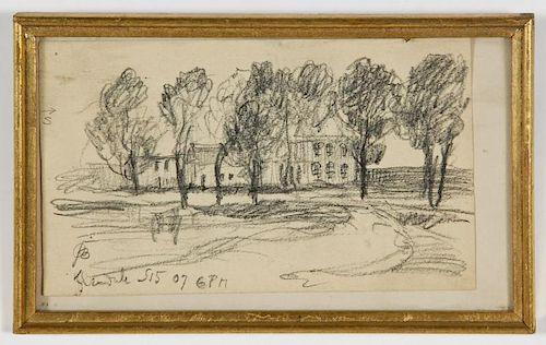 Oscar Bluemner (American, 1867-1938) View of Glendale,