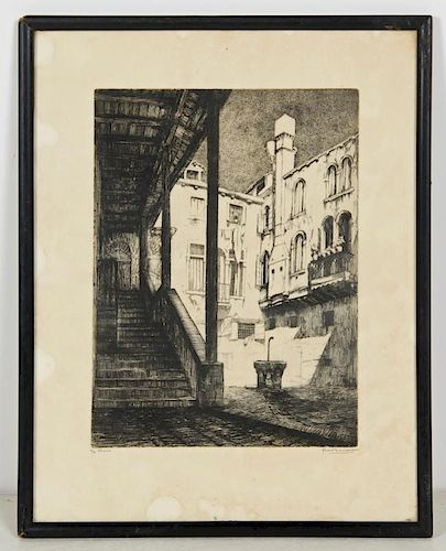 Fabio Mauroner (Italian, b. 1884) Venezia