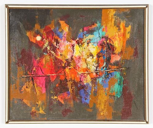 Roy Steinberg (American, 20th c.) Abstract Expressionist Composition